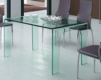 Mesa de comedor de cristal modelo