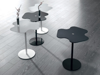 Mesa auxiliar con forma de flor - Mesa baja auxiliar con forma de flor