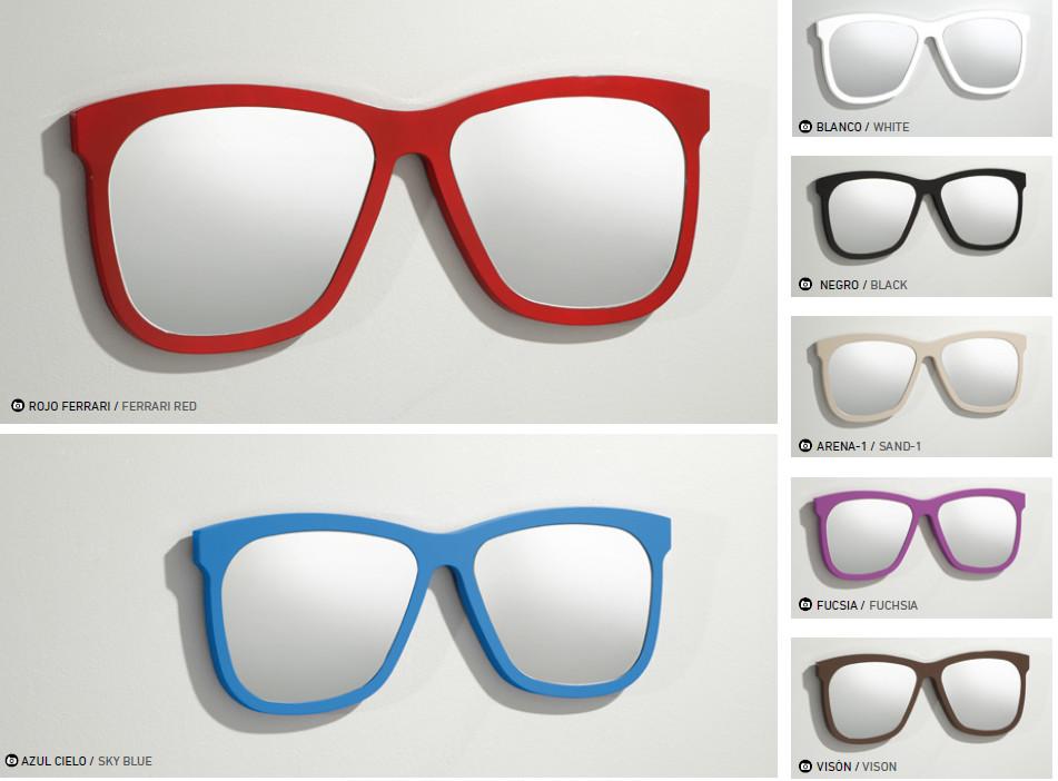 Espejo con forma de gafas gafas de pared espejo for Espejos con formas originales