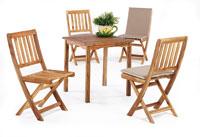 Set sillas y mesa madera modelo GALFI - Set sillas y mesa madera modelo GALFI