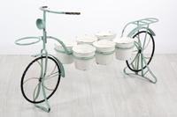 Plantero Bicicleta en metal 6P - Plantero Bicicleta en metal para 6 plantas en color azul