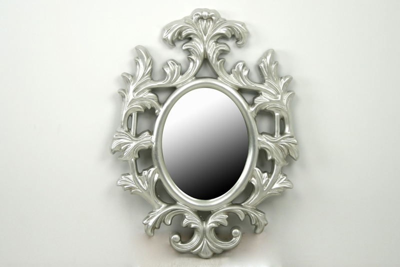 Mia home espejo de resina ovalado silver - Espejos de resina ...