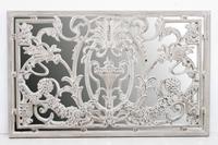 Espejo resina labrado 2 - Espejo resina labrado en color blanco envejecido