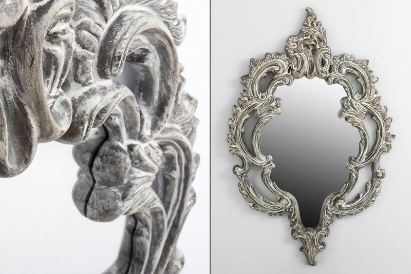 Mia home espejo de resina grey - Espejos de resina ...