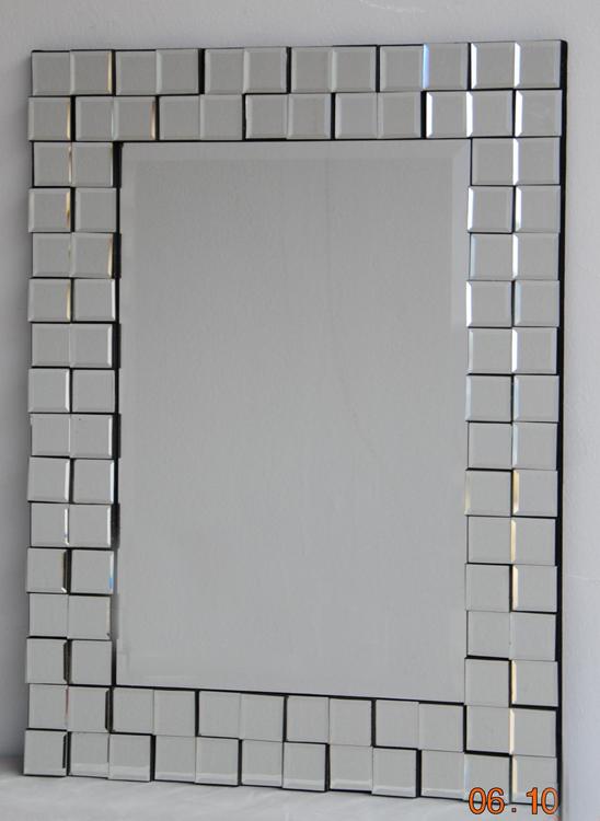 Espejo veneciano marco cuadritos cristal