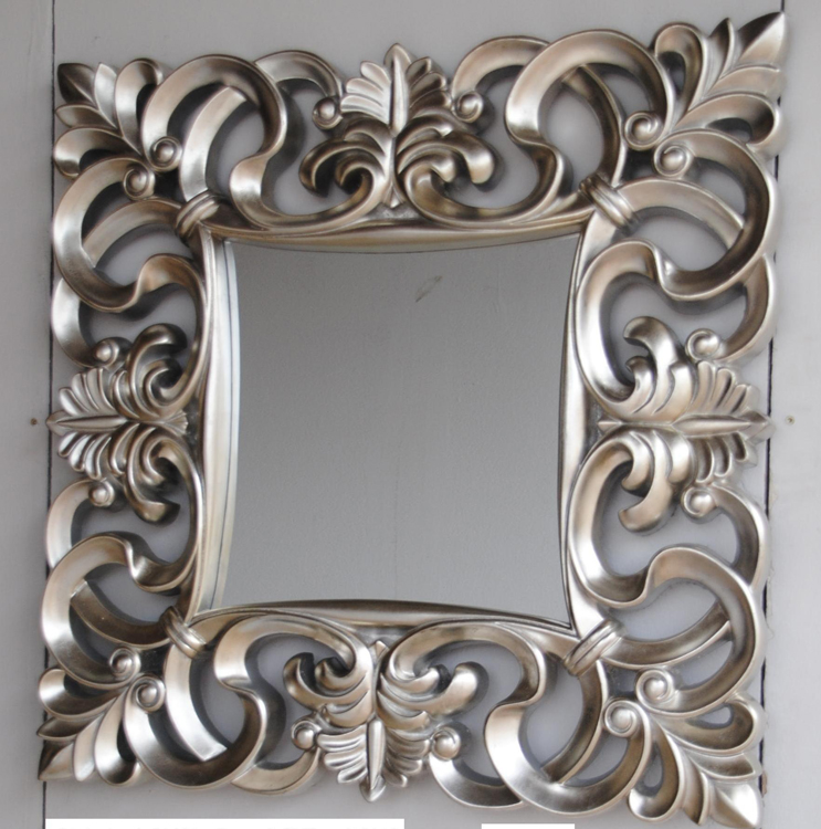 espejo cuadrado marco poliresina