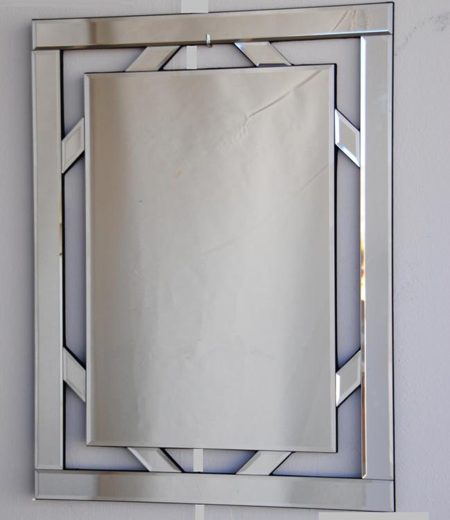 Espejo veneziano marco cristal biselado for Espejo marco cristal