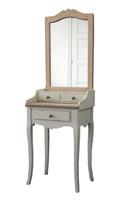 Tocador con espejo de madera - Acabado envejecido bicolor