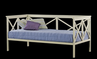 Sofá cama de forja 2 - Sofá cama de hierro de fabricación española