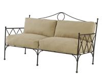 Sofá y sillón estilo Gótico - Sofá y sillón de estructura de forja estilo Gótico