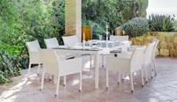 Conjunto comedor para exteriores 10 - Comedor de terraza y jardín para 8 personas