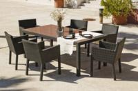 Conjunto comedor para exteriores 11 - Comedor terraza o jardín para 6 personas