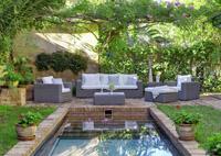 Set de lujo sofá sillones y mesa exteriores 4