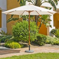 Parasol de madera con palo central 2 - 300 cm diámetro