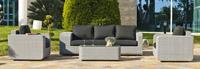 Set muebles de lujo para exteriores 17 - Sillones y sofás con brazos extra anchos para jardín o terraza