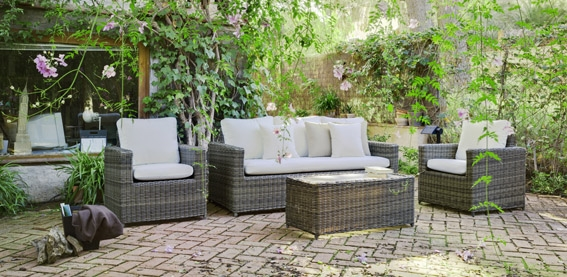 Set sofá, sillones y mesa para exteriores 12 - Muebles robustos con resistencia garantizada