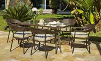 Mesa y sillones rattan para exteriores 9 - Sillones apilables, mesa rectangular o redonda