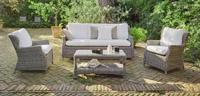 Set sofás y mesa de lujo para exteriores 9