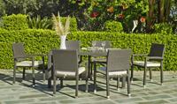 Juego de comedor para exteriores 12 - Comedor terraza o jardín para 6 personas