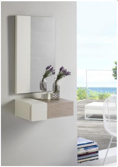 Mueble para la entrada con espejo - Mueble recibidor entrada y espejo