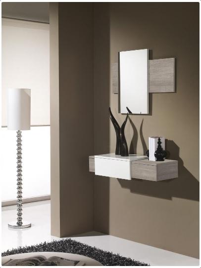 Mueble recibidor para la entrada y espejo - Consola y espejo para la entrada Neo Goo 180