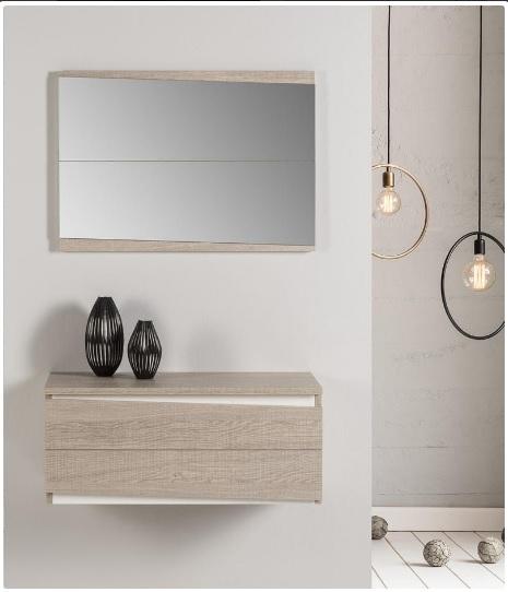 Recibidor y espejo para la entrada - Mueble recibidor y espejo para la entrada