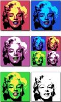 Colección Pop Art Marylin - Cuadro impreso