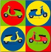 Cuadro Pop Art Motos - Cuadro impreso