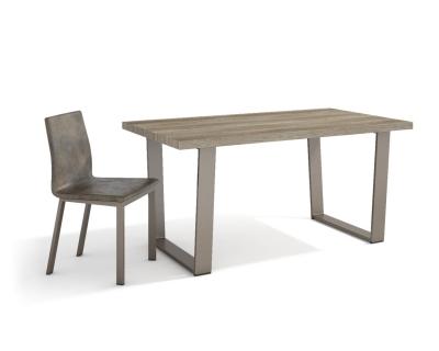 Mesa de comedor de melamina con patas de metal - Mesas de comedor