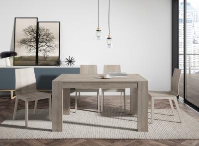Mesa de comedor ampliable - Mesa de comedor extensible de melamina, laminado fenólico o cristal