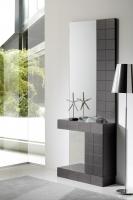 Consola moderna con espejo chapa madera - Consola moderna