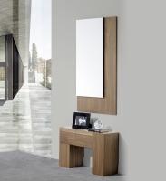 Consola con espejo nogal - Conjunto de entrada