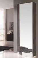Zapatero moderno con espejo - Zapatero de diseño