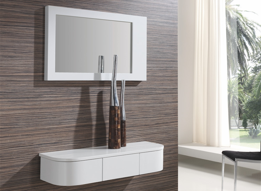Consola con cajón giratorio y espejo