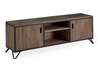 MUEBLE TV INDUSTRIAL ROBLE