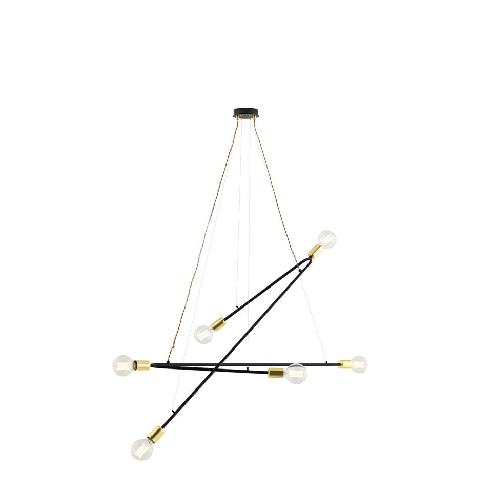 Lampara de techo C1181 - Lampara de techo C1181, Lámpara colgante de acero epoxy negro