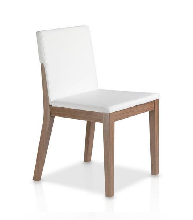 Silla de madera 8911CH - Silla de madera 8911CH,  Silla en madera chapada de nogal con asiento tapizado