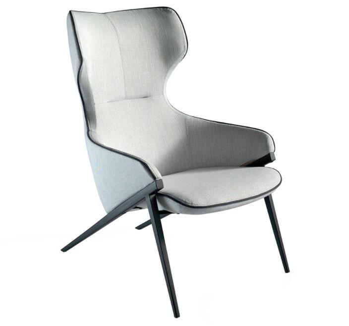 Sillón A125 - Sillón A125, Sillón tapizado con estructura de acero pintado epoxy
