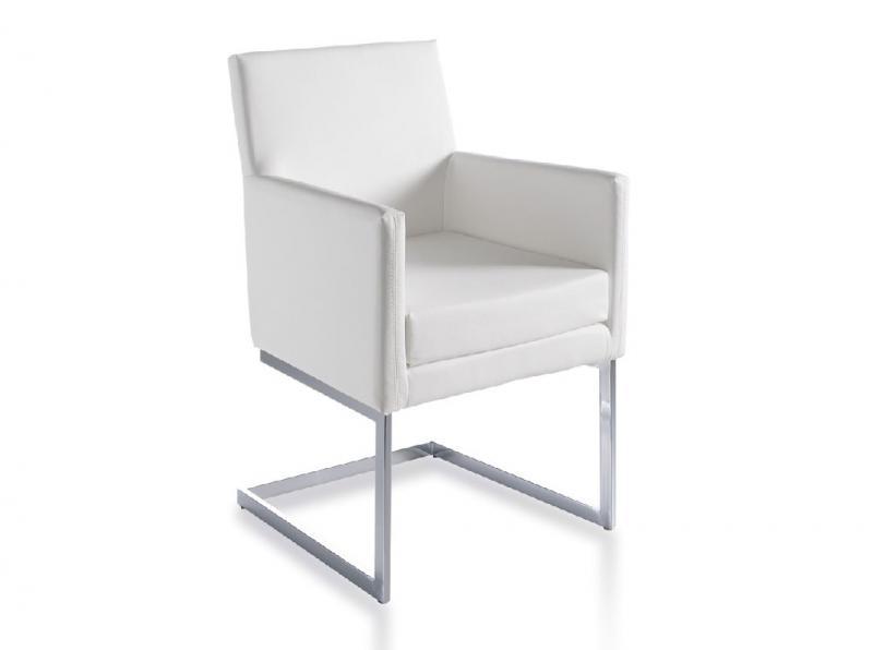 Sillón tapizado BZ090 - Sillón tapizado BZ090, Sillón tapizado con estructura de acero inoxidable