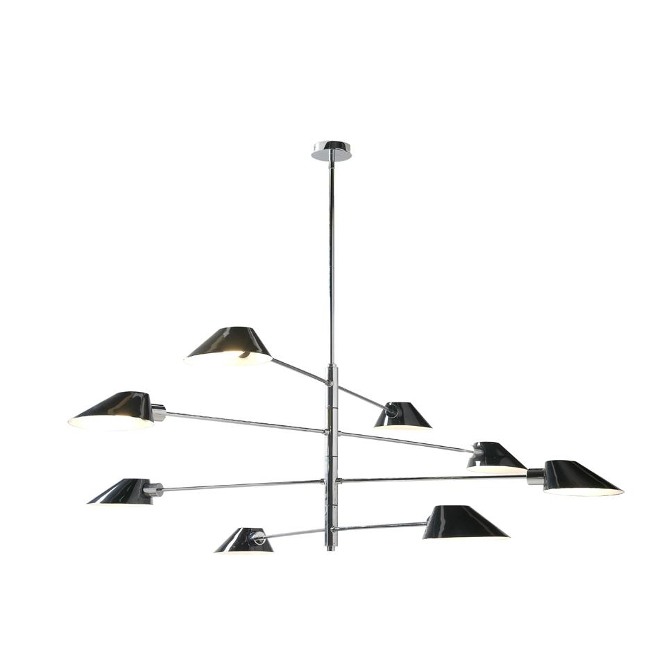 Lampara de techo C1122-8 - Lampara de techo C1122-8, Lámpara colgante de acero epoxy negro
