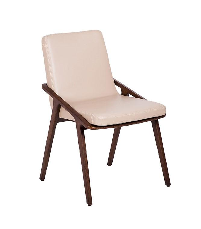 Silla de madera CH1483 - Silla de madera CH1483,  Silla de madera maciza de nogal con asiento tapizado