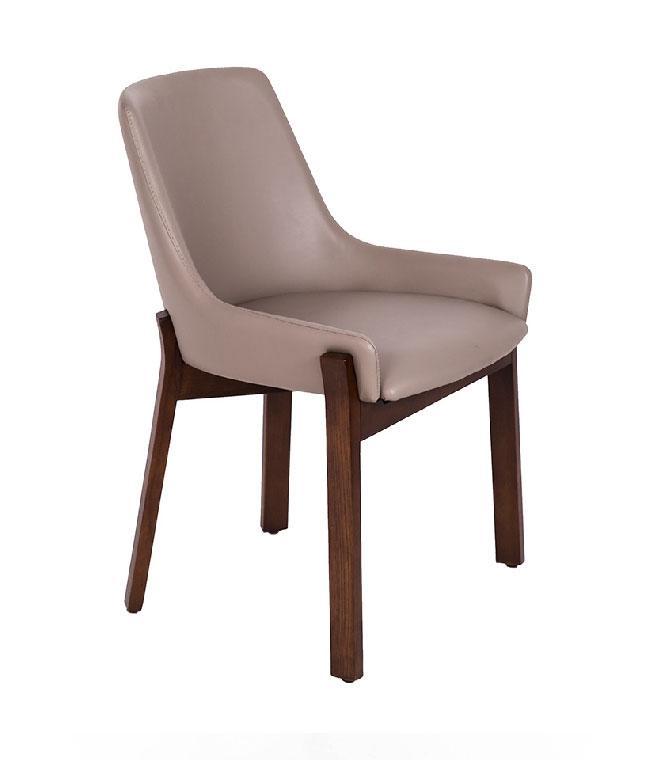 Silla de madera CH1601 - Silla de madera CH1601, Silla de madera maciza con asiento tapizado