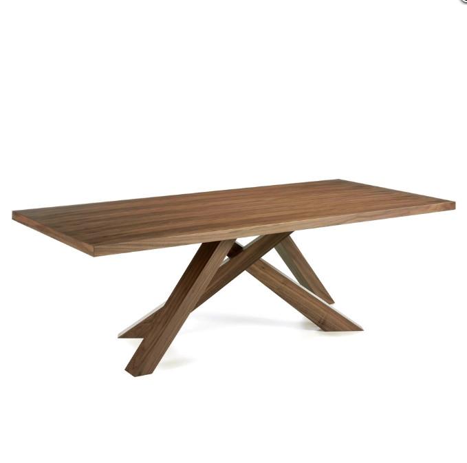 Mesa de comedor de madera maciza  - Mesa de comedor de madera maciza