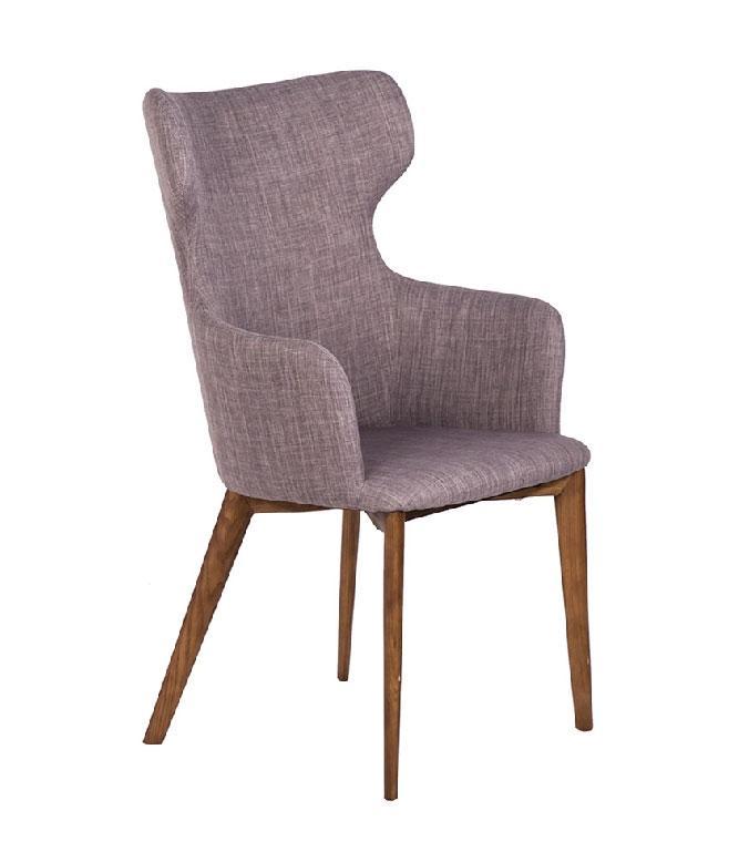 Silla de madera CH807 - Silla de madera CH807, Silla de madera maciza de fresno con asiento tapizado