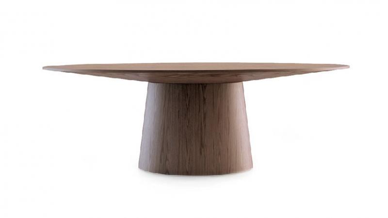 Mesa LE015 - Mesa LE015, Mesa de comedor ovalada de madera o DM