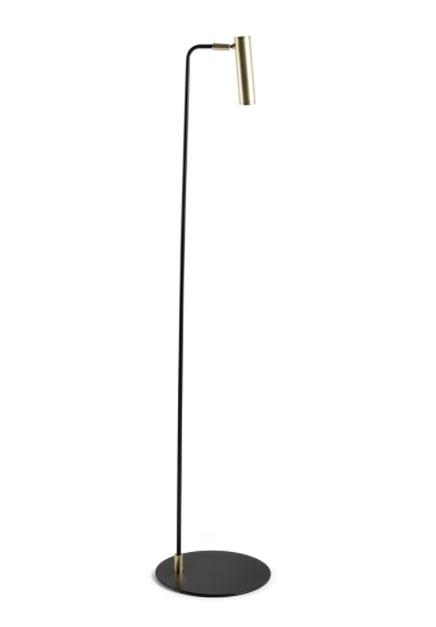 Lampara de pie P1194 - Lampara de pie P1194, Lámpara de Pie de acero en color negro
