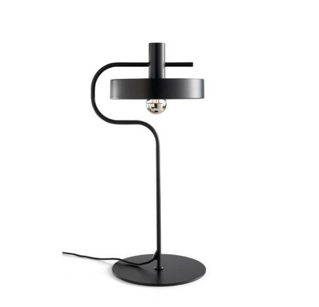 Lampara de sobremesa S1227 - Lampara de sobremesa S1227, Lámpara de sobremesa de acero epoxy en color negro