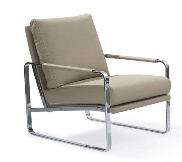 Sillón SF399 - Sillón SF399, Sillón tapizado con estructura de acero inoxidable
