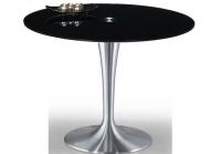 Mesa de comedor de cristal redonda