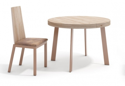 Moderna mesa de comedor redonda
